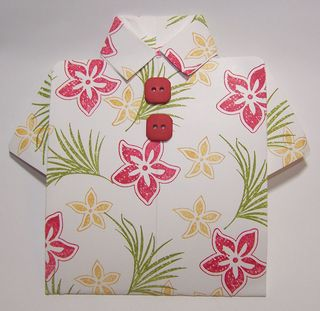 Tropical shirt card