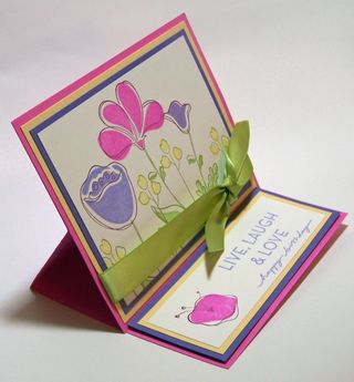 Awash with Flowers Easel Card Sample