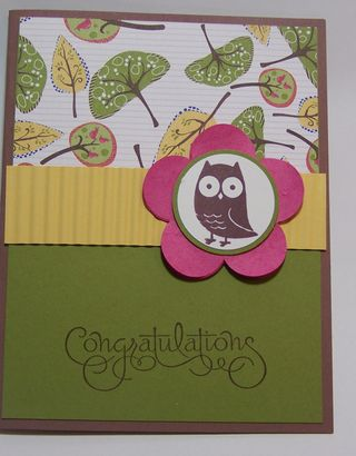 Fox and Friends Congratulations Card Sample