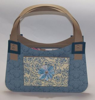 Bella Blue Cardstock Purse