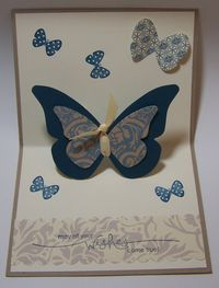 Pop Up Butterfly Card (inside)