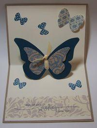 Pop Up Butterfly Card (inside)