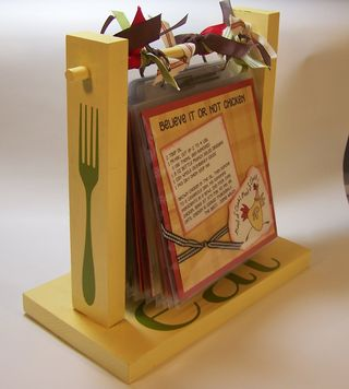 Scrapbook Recipe Stand
