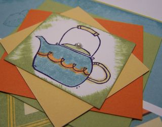 Close up of Morning Cup teapot Card