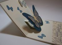 Pop Up Butterfly Card (inside side view)