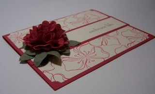 Carnation Scallop Flower Card