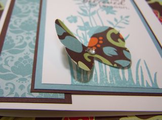 Butterfly closeup Just Believer Card