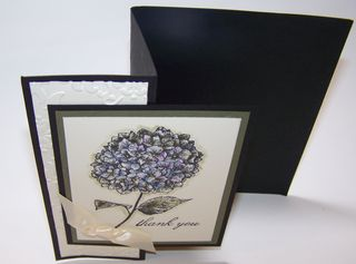 Fancy Fold Hydrangea Card