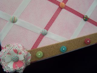 Corkboard close up