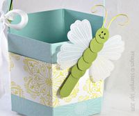 Dragonfly with Mixed Bunch Stamp