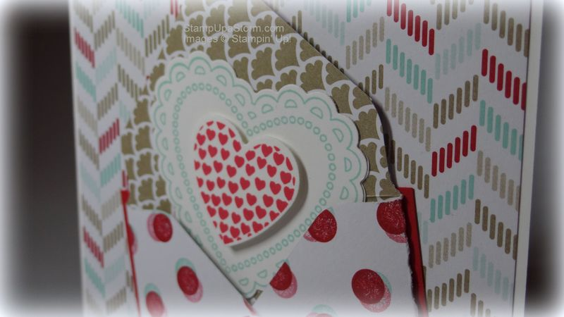 Heart in an Envelope Card Closeup