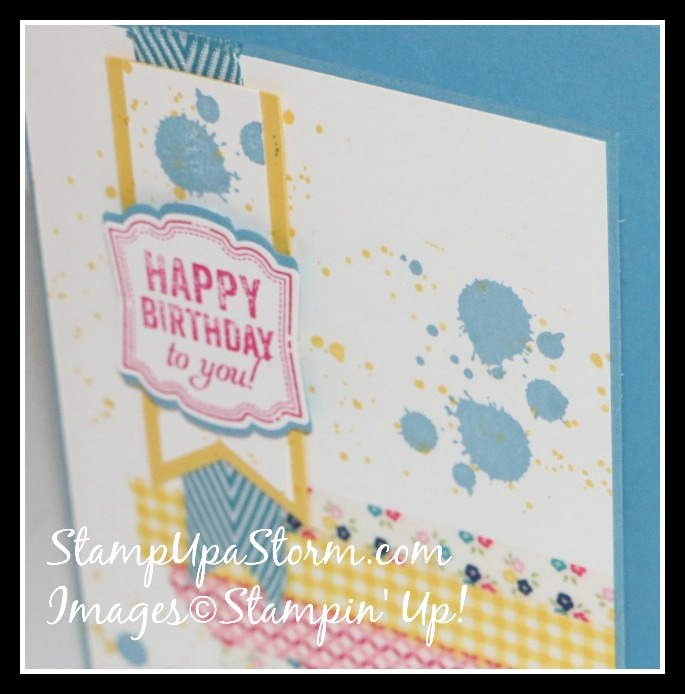 Happy Birthday Washi Splatter! Card Closeup