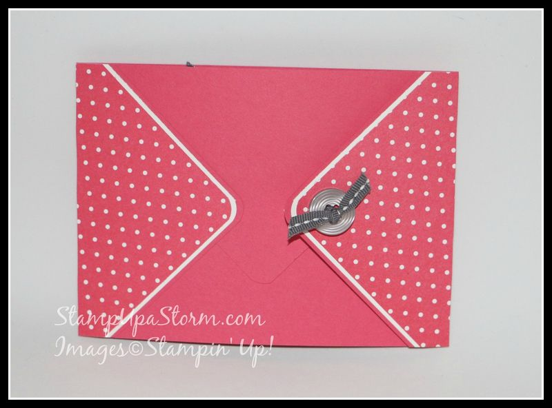 Button Envelope Fold Card Closed