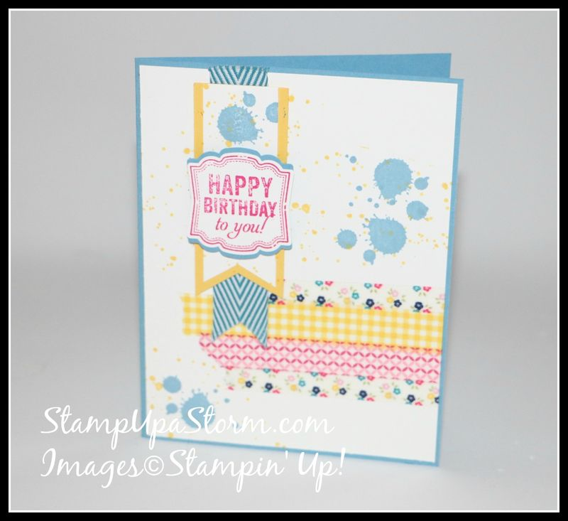 Happy Birthday Washi Splatter! Card