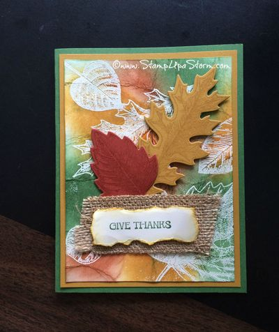 Vintage Leaves - Sept WM