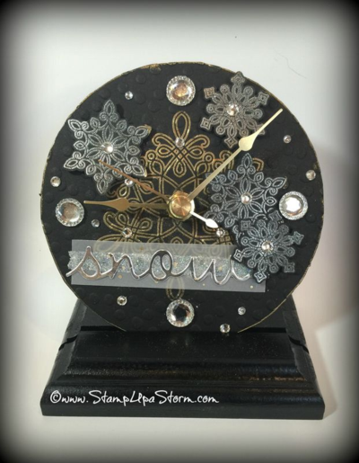 Snow Bling Clock